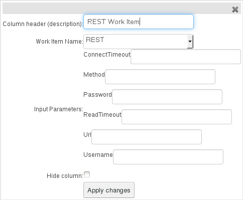 REST Work Item for Guided Decision Table Editor in BRMS User Guide 6.0.2