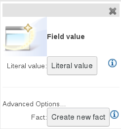 Field values dialog box for JBoss BRMS Test Scenario global features.
