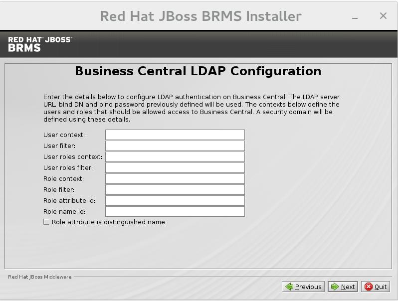 Business Central LDAP configuration.