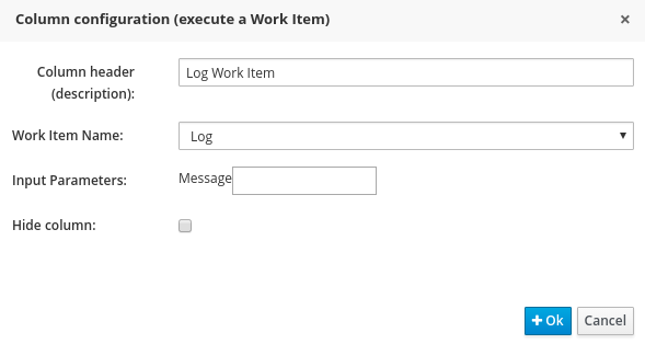 Log Work Item for Guided Decision Table Editor in BRMS User Guide 6.0.2