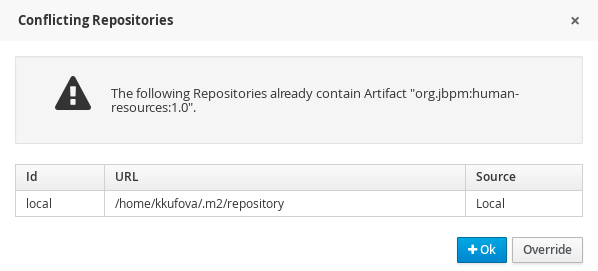 conflicting repositories