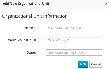 A screenshot of the Add New Organizational Unit dialog window.