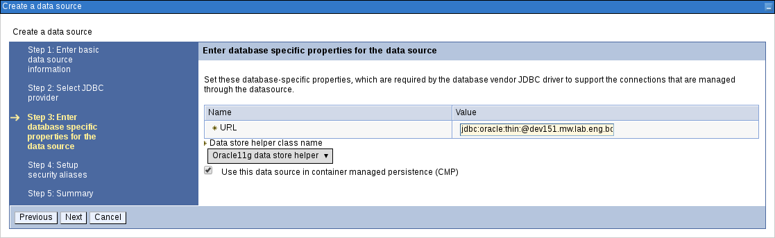 creating data source3