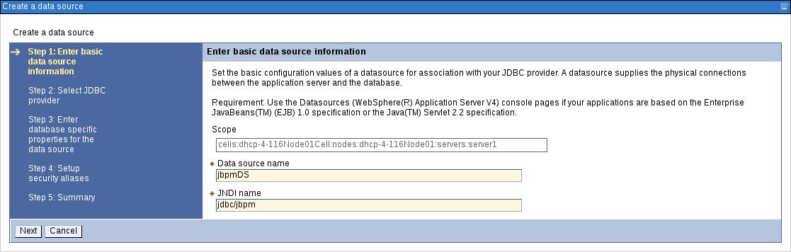 creating data source1