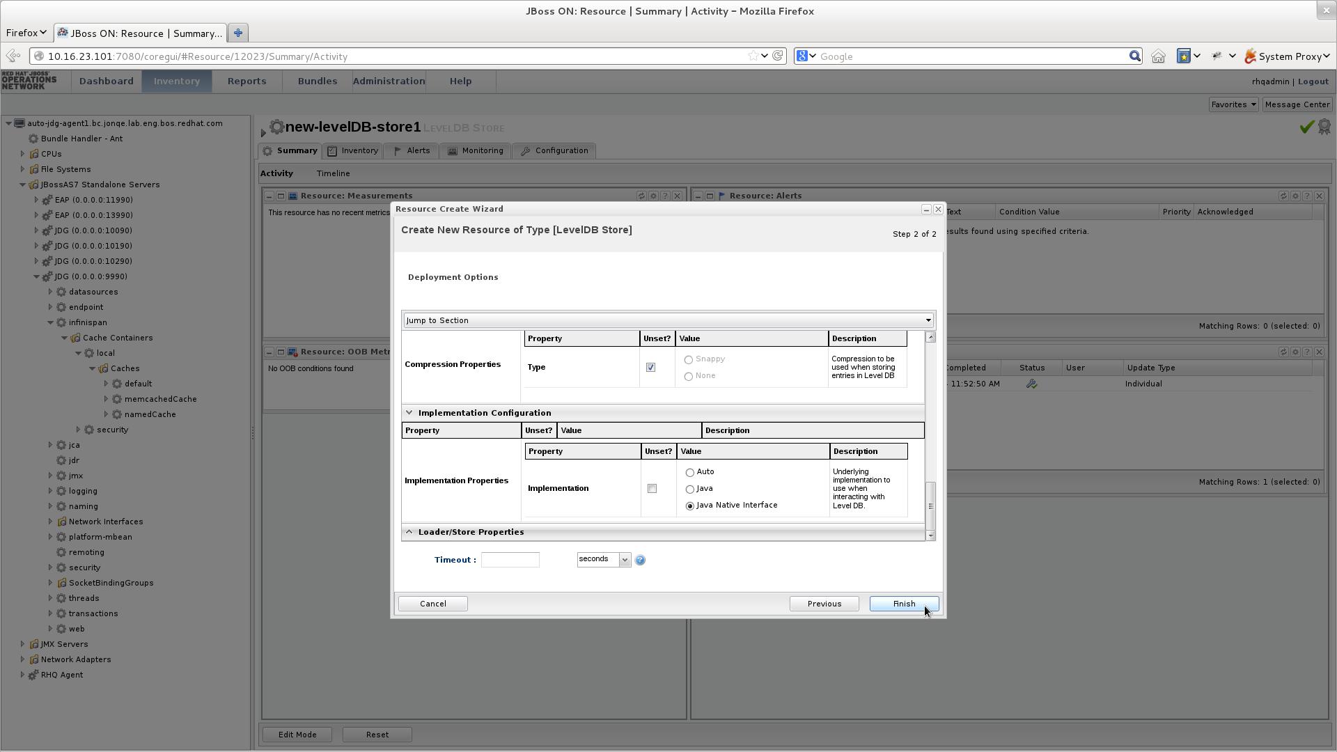 Configure the new LevelDB Cache Store