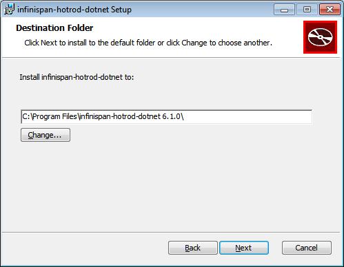 Hot Rod C# Client Destination Folder