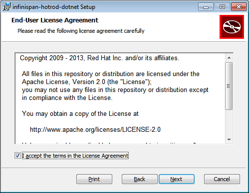 Hot Rod C# Client End-User License Agreement