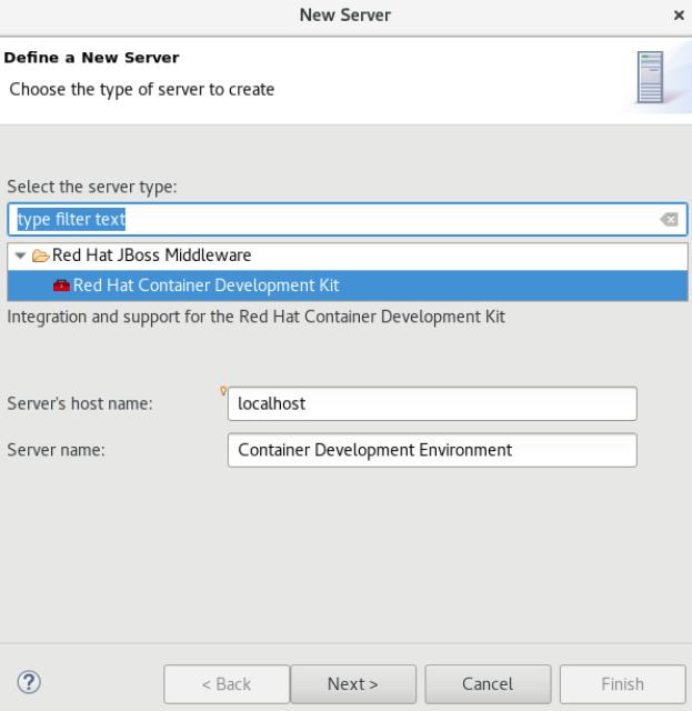 Enter Details on the New Server Dialog Box