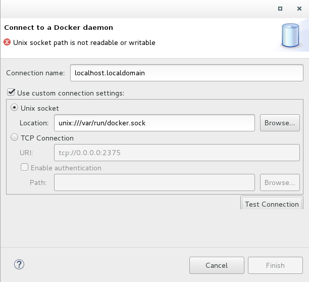 Connect to a Docker Daemon