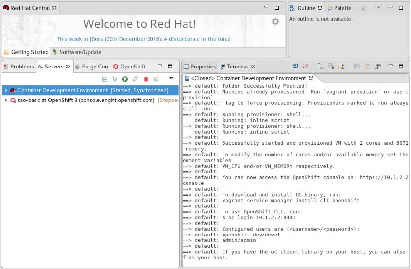Monitor Status of Server Adapter in Built-in Terminal