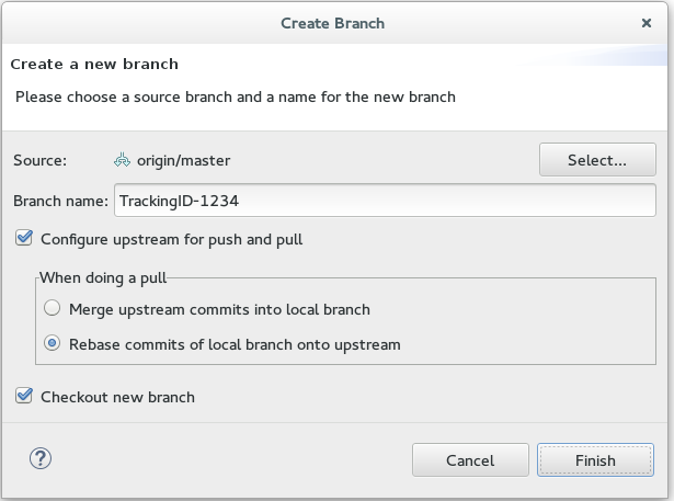 Add Details for a New Branch