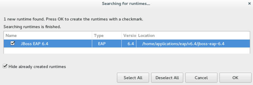 Selecting a Runtime