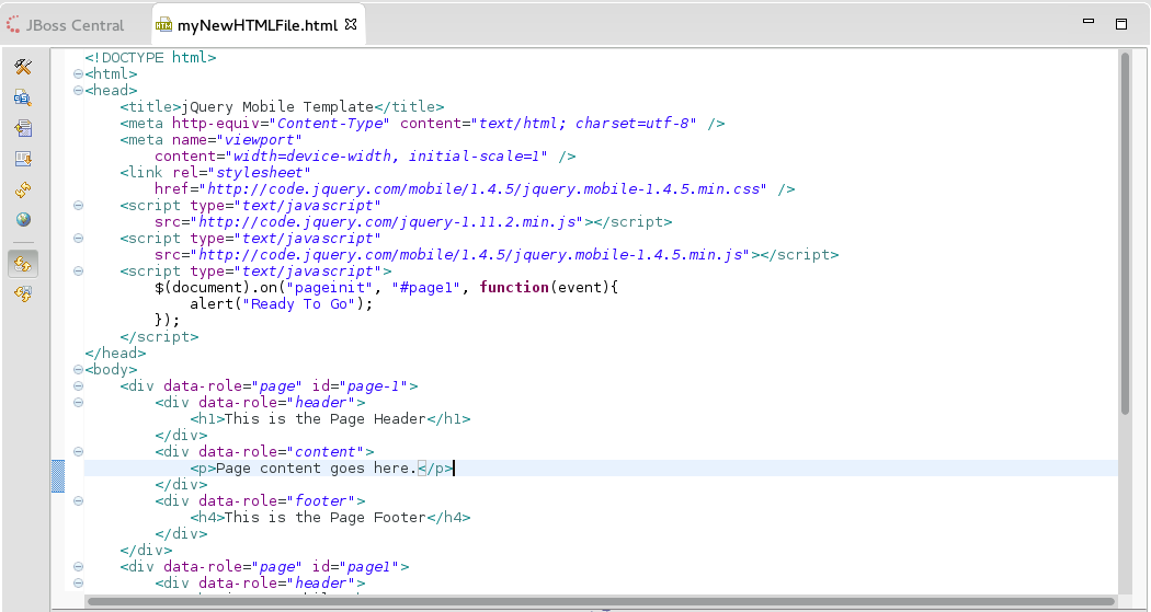 New Page Added to the HTML File