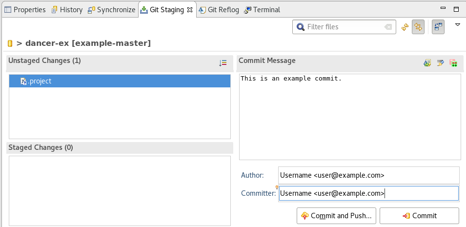 Add details in the Commit Changes Field