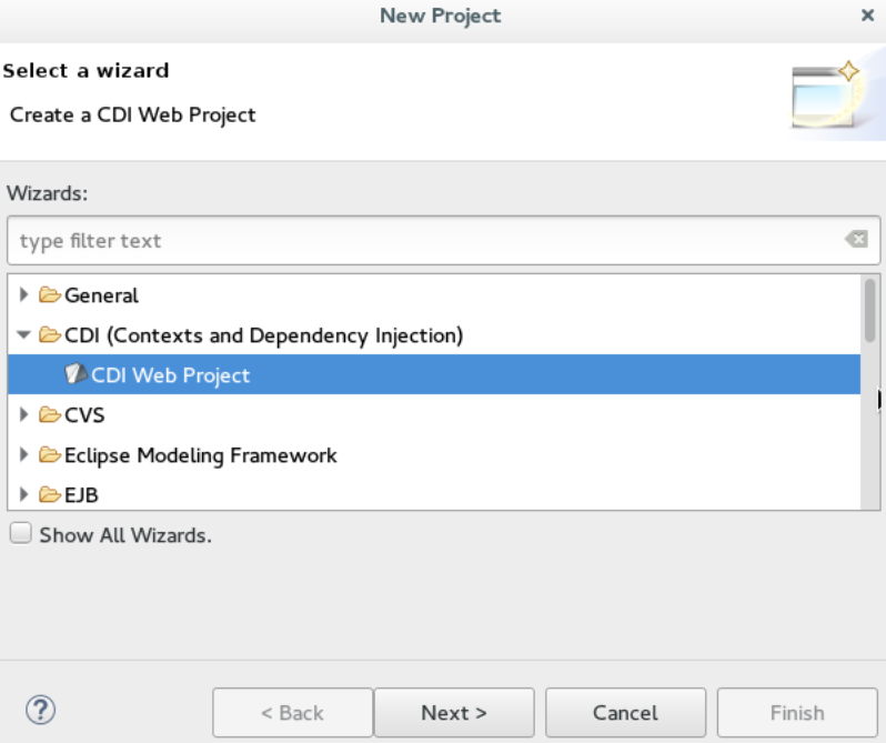 Importing a Project Using the New Project Wizard