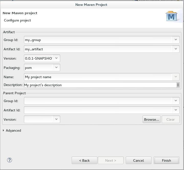 Configure Project Details