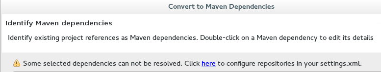Dependencies Can Not Be Resolved Error