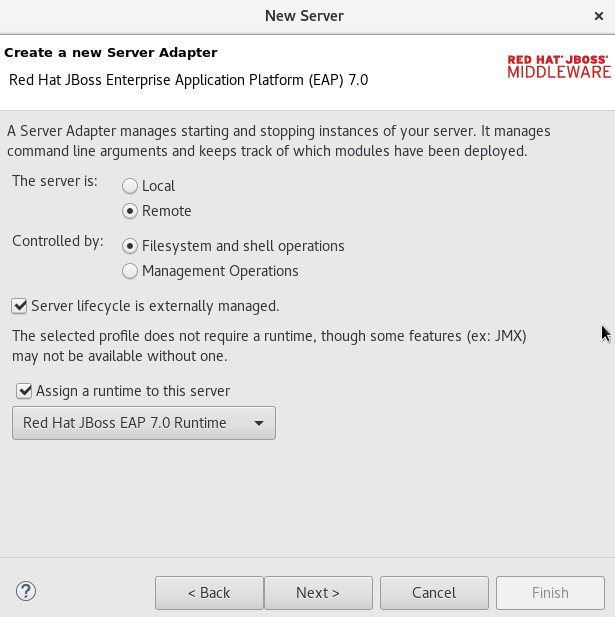 Creating a New Server Adapter