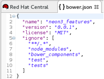 Contents of the bower.json File