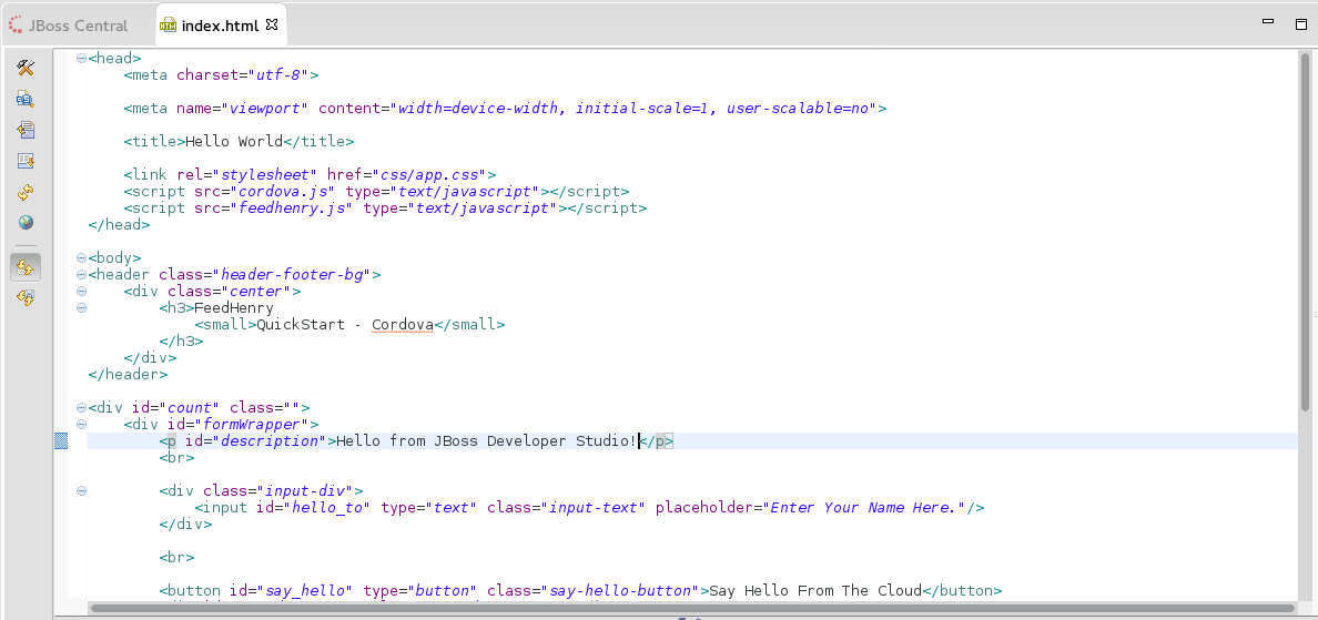 The Edited index.html File