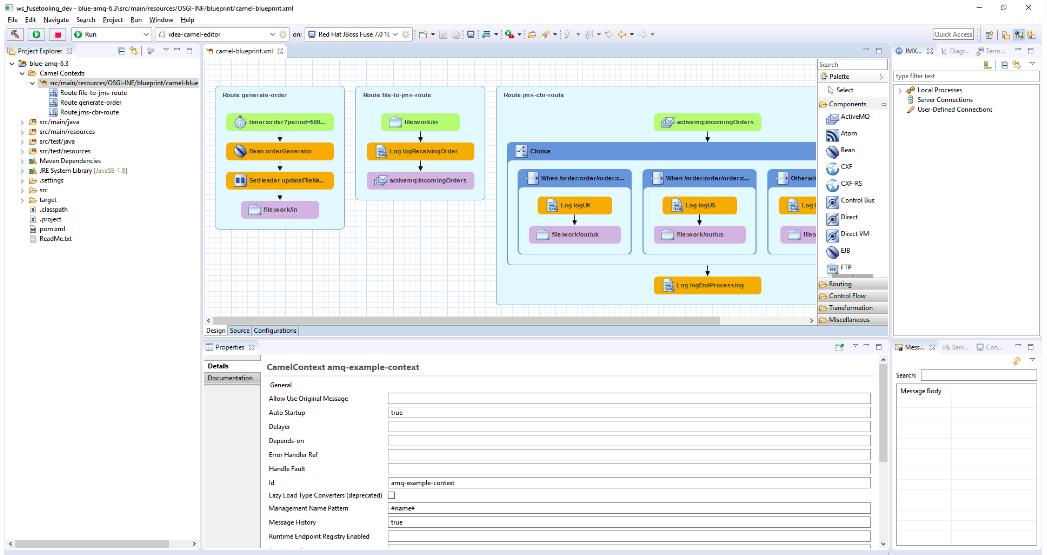 Editing the Camel Context Parameters