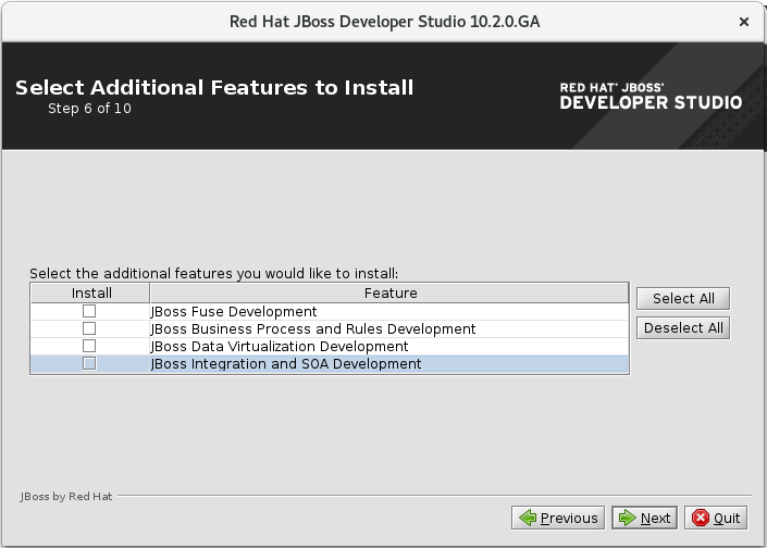 Select Additional Features to Install