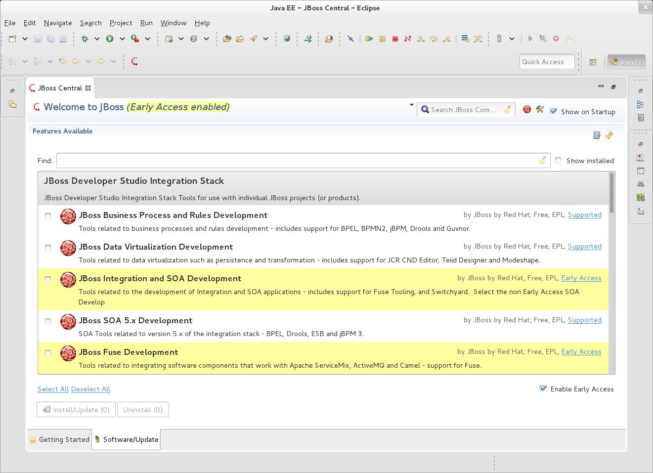 JBoss SOA Early Access is enabled