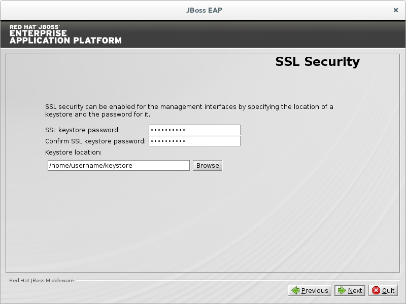 Configure SSL Security.