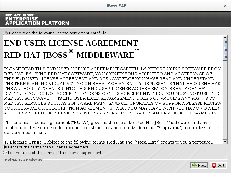 Agree to the End User License Agreement to continue.