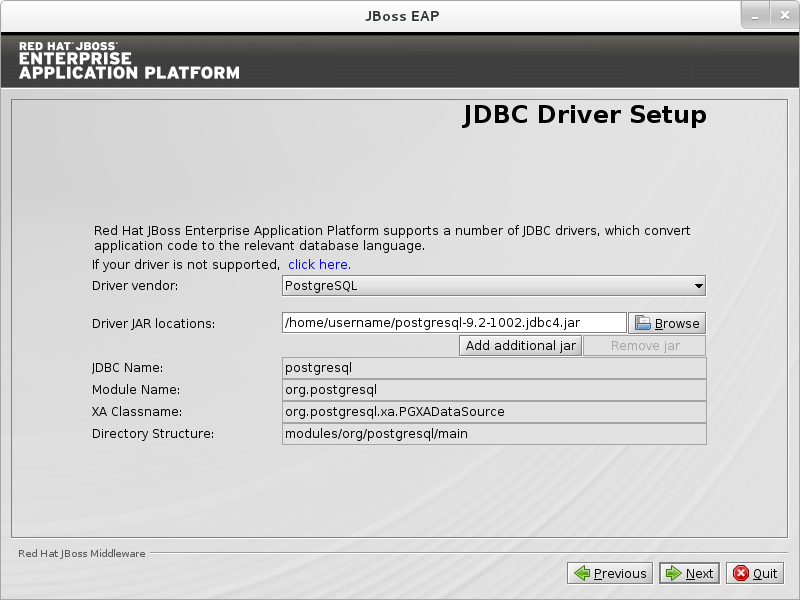 B 19  JDBC Driver Setup - Red Hat Customer Portal