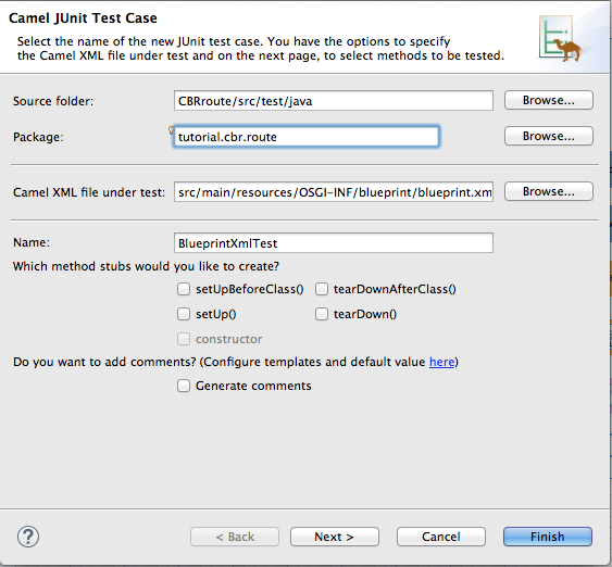 Chapter 8  To Test a Route with JUnit Red Hat JBoss Fuse 6 3