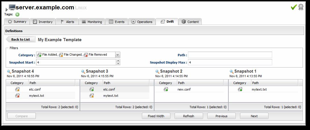 drift snapshot 4 managing configuration drift red hat customer portal  at metegol.co