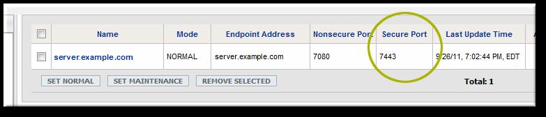 Server Hostname and Port Configuration