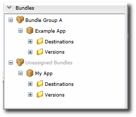Bundle Groups and Unassigned Bundles in the Bundle Hierarchy