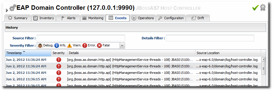 JBoss EAP 6 Event Logging