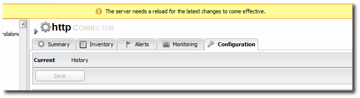 Reload Configuration Message