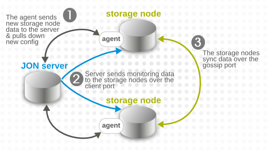 Server, Agent, and Metrics Storage Node Communication