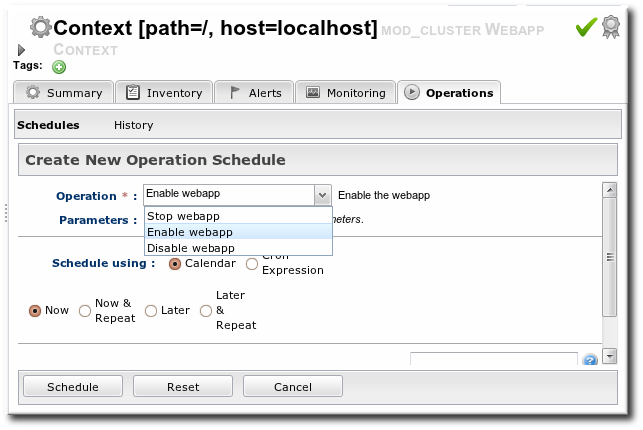 Running Web Application Context Operations