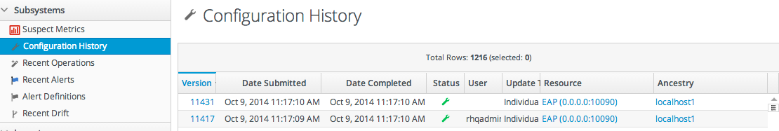 Configuration History Report