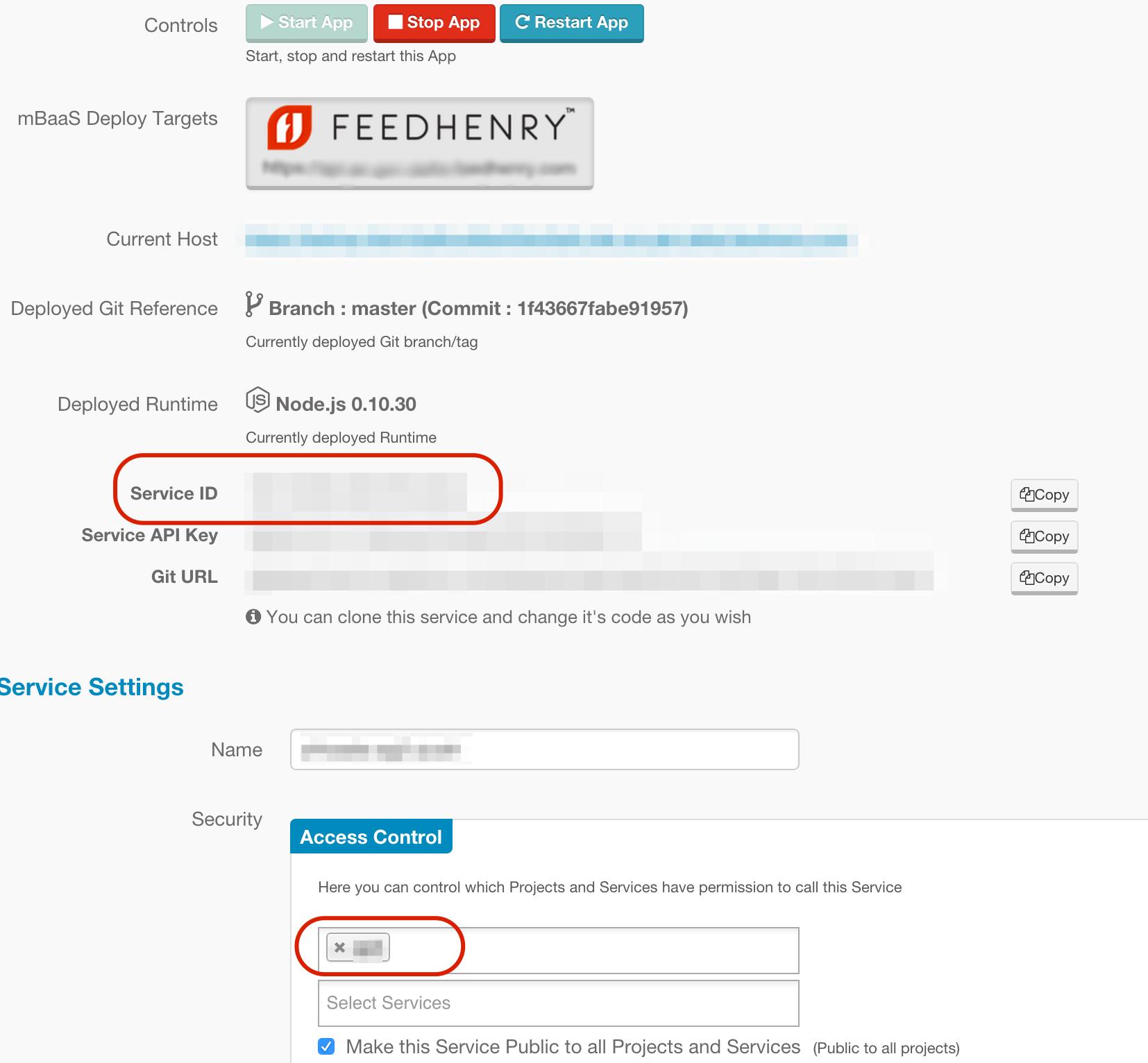Service Connector Details