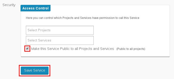 Make a service public