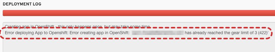 OpenShift Online No Gears