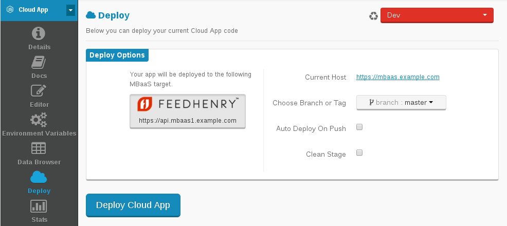Deploy Cloud App
