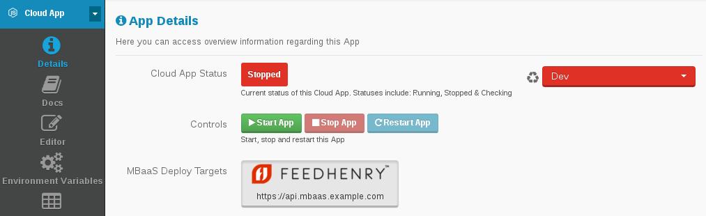 Cloud App Status