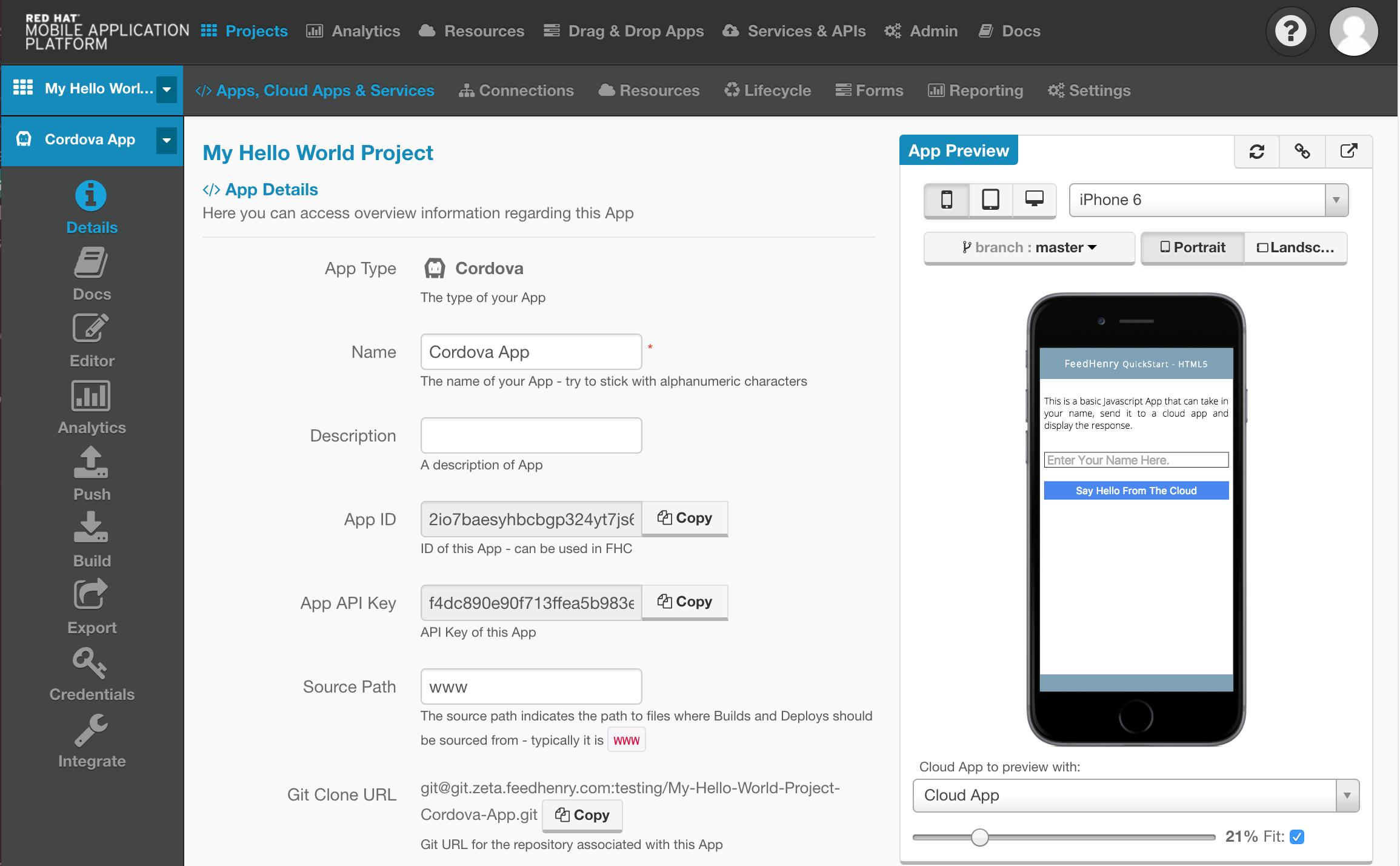 Client App Details