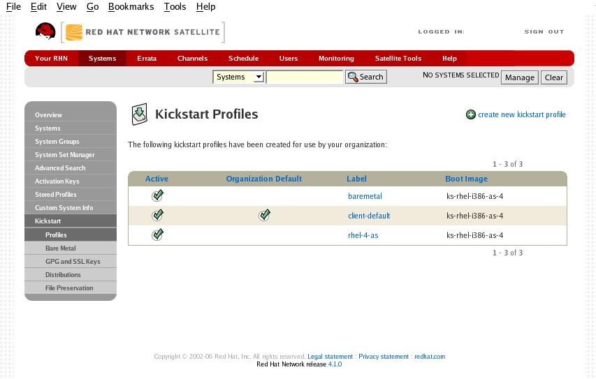 Kickstart Profiles