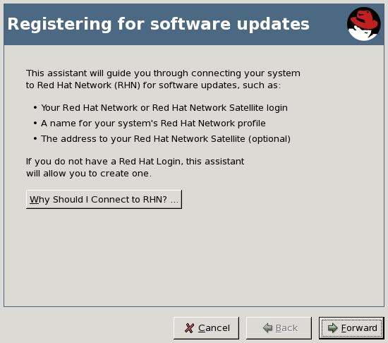 Registrierung für Software-Updates