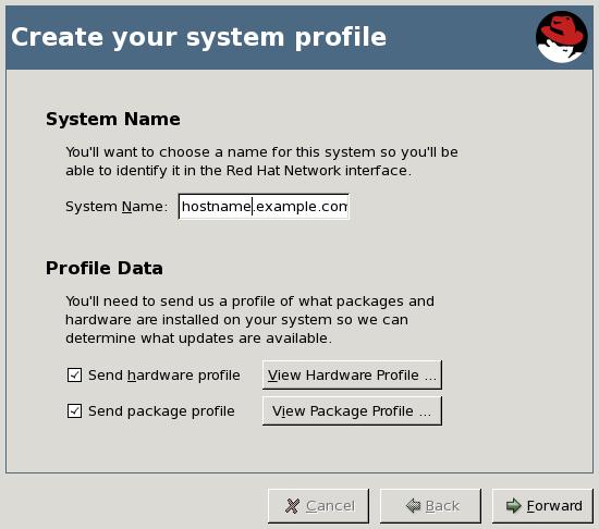 Legen Sie Ihr Systemprofil an