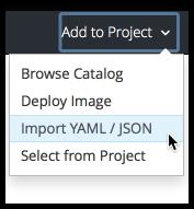 Import YAML/JSON