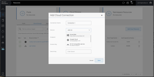 MCG add cloud connection